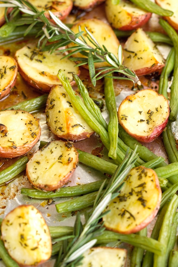 One Sheet Pan Rosemary Chicken With Potatoes Recipe
