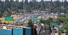 I-5 looking north from NE 92nd Street