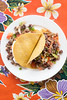 JACKIE ALPERS FOOD PHOTOGRAPHY: Black bean and bacon tacos with pico salsa