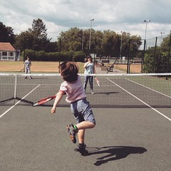 Anyone for tennis? We are totally rubbish but it was fun.