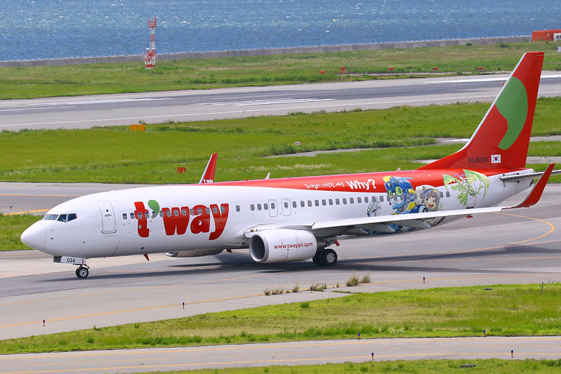 HL8024 德威航空 ティーウェイ航空 T'Way Air Boeing 737-8HX(WL)