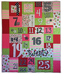Chris-mas Countdown Custom Quilt by Whimzie Quiltz