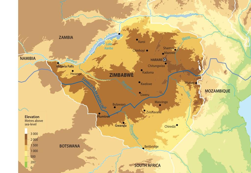 Map of Zimbabwe | GRID-Arendal
