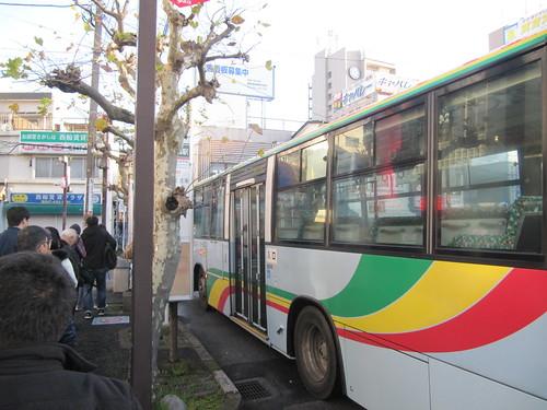 西船橋駅発中山競馬場行き臨時バス乗り場