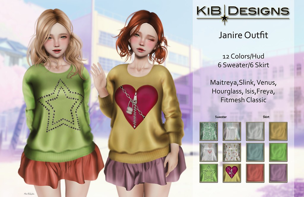 KiB Designs - Janire Outfit Exclusive in 2nd Level Event - SecondLifeHub.com