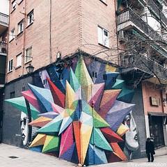 #streetart #art in the #streets of #madrid #igmadrid #visitmadrid #visitamadrid #wanderlust #travelgram #travel #guardiancities #guardiantravelsnaps #streetartistry #streetphotography #colours #españa #igespaña #corner #vsco #vscocam #building #citytrip