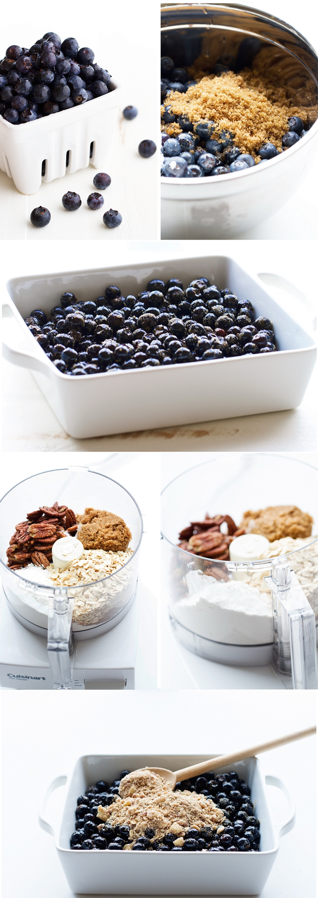 Quick and Easy Blueberry Crisp with Oats and Pecans! This is the simplest, most delicious dessert ever! #blueberries #blueberrycrisp #blueberrycrumble #summer   Littlespicejar.com