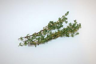 07 - Zutat Thymian / Ingredient thyme