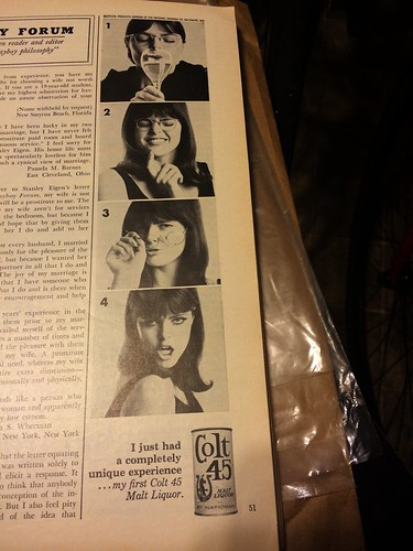 Colt 45 Playboy Ad from 1967