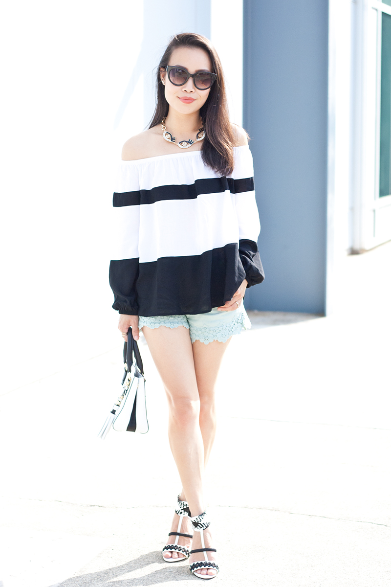 04-black-white-stripes-off-shoulder-denim-heels-sf-sanfrancisco-fashion-style