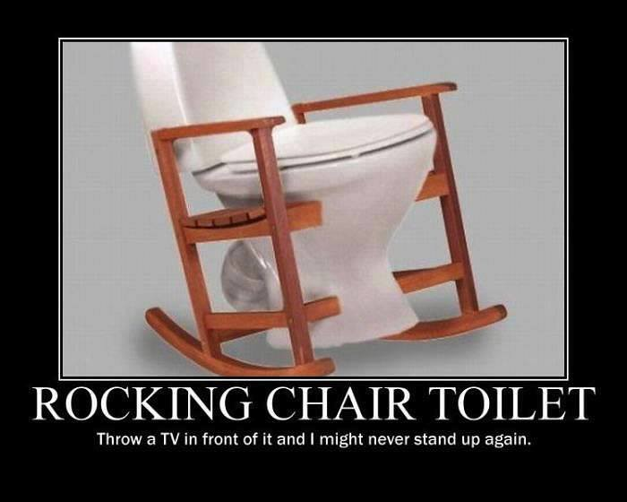 Rocking Chair Toilet