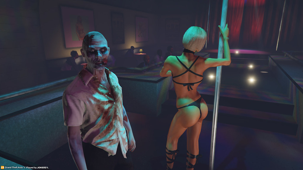 Gta V After Work Zombie 01  Pole Dancing With Stripper -8593