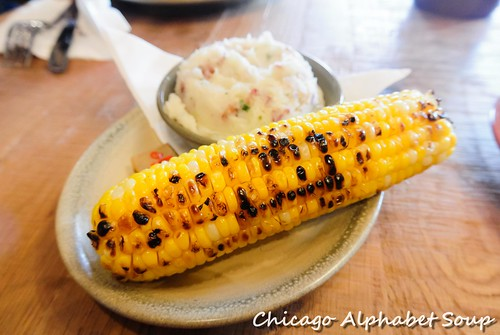 Corn, Garlic Mashed Potatoes