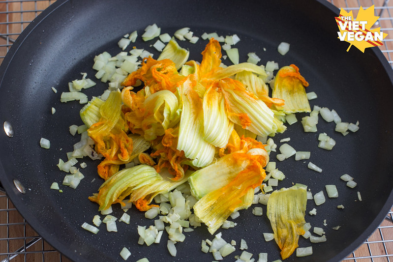 Vegan Zucchini Blossom Quesadillas