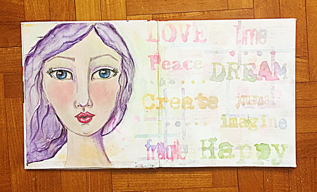 Mixed-media-art-journal-page