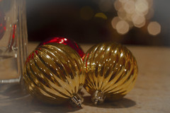 Christmas ornaments waiting to be hung