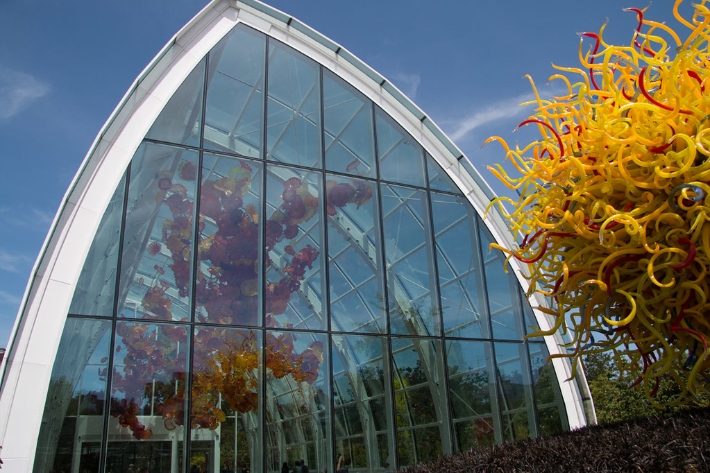 Chihuly Glasshouse as viewed from outside