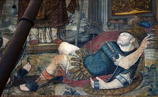 תמונה של Sforza Castle ליד Milano. tapestry italianart castellosforzesco gonfalonedimilano standardofthecityofmilan giuseppearcimboldo giuseppemeda scipionedelfinone arian beard man