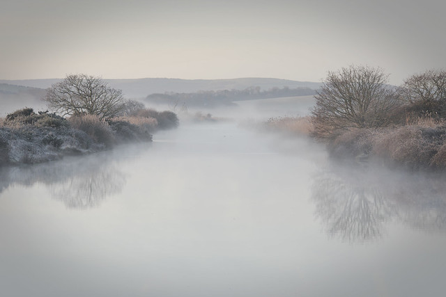 Muted morning mists
