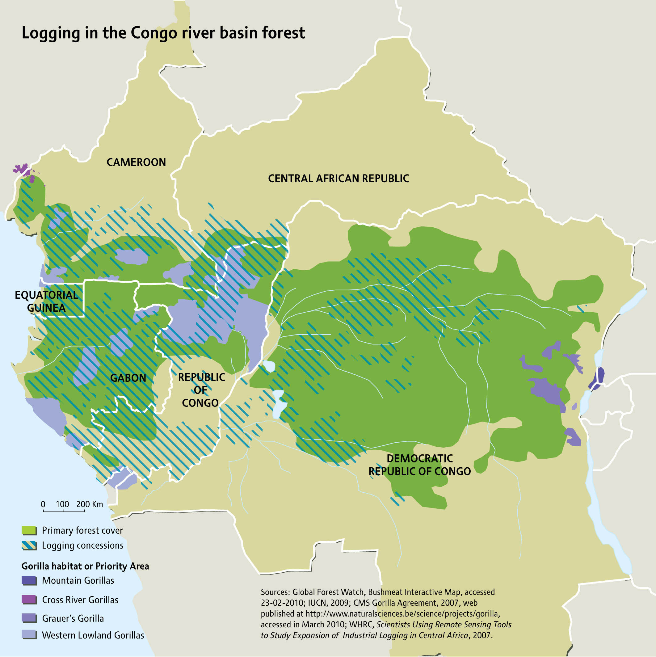 Map Of Africa Congo River.Logging In The Congo River Basin Forest Grid Arendal