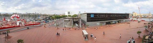 Barcelona - Centro Comercial Maremagnum panorama