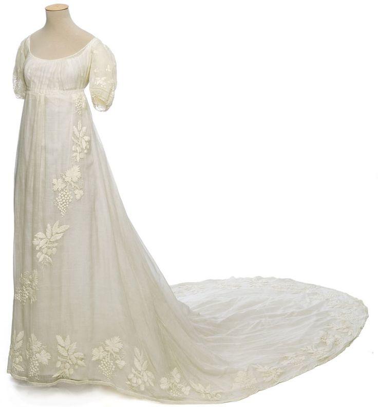 Robe de mariée vers 1810