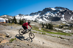 Mountain biking from the Roundhouse Lodge