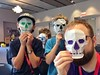 I taught these fine young men how to fold my #origami #skull #mask model at the #ousa2015 convention two weekends ago...