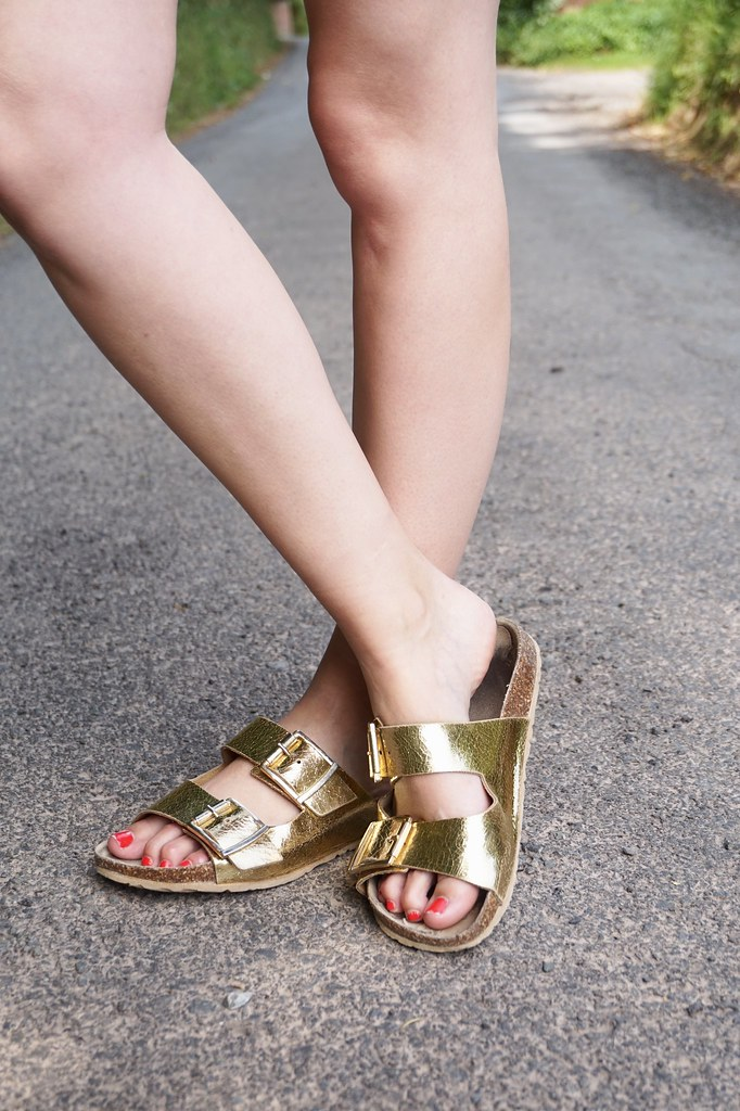gold birkenstocks river island sandals