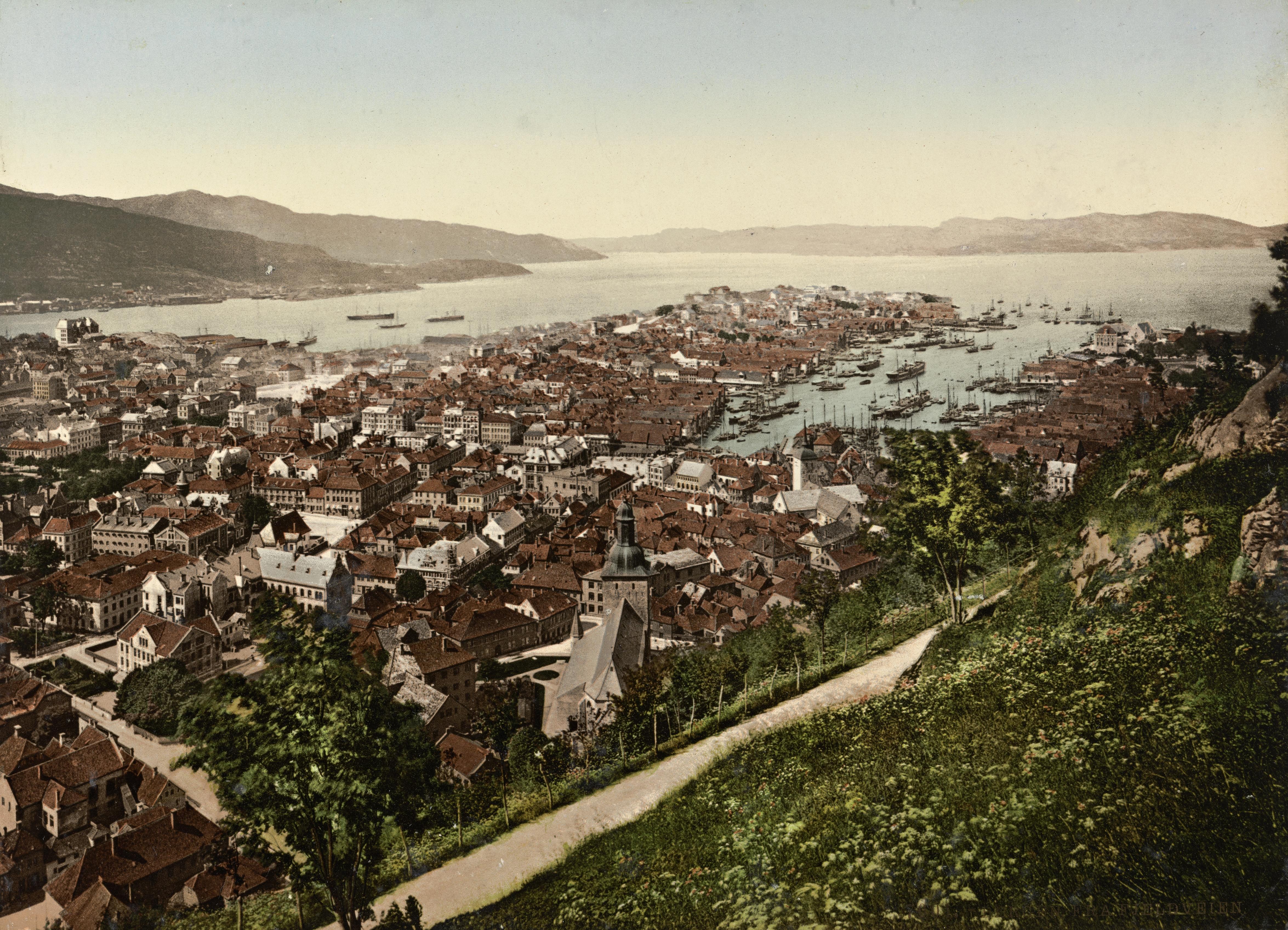 7001. Bergen. Fra Fjeldveien