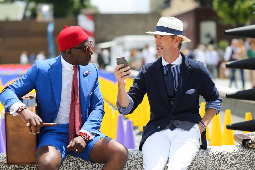 Defustel and Guillaume Bo at Pitti Uomo 88