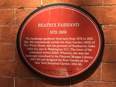 Photo of Beatrix Farrand red plaque