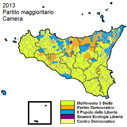 Sicilia 2013 Partito maggioritario camera