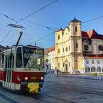 Slovakia - Bratislava - Tram #7921 @ Hurbanovo námestie / Trinity church