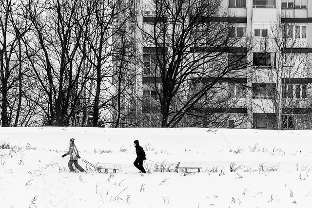Winter in the city.