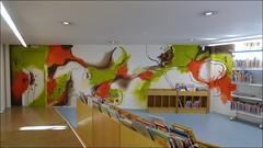Mural Sala Infantil de la Biblioteca Joan Triadú de Vic
