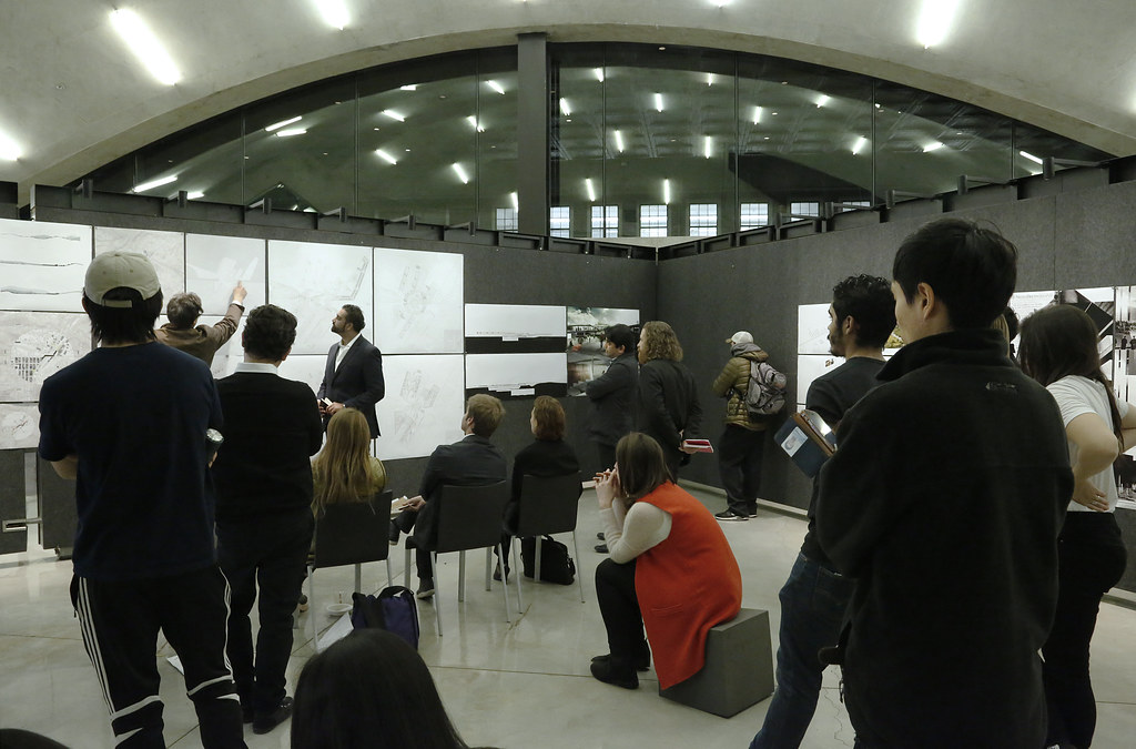 The M.Arch. thesis review of Zahid Alibhai in Milstein Dome.