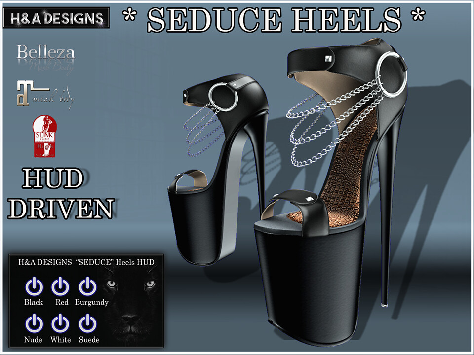 H&A Designs Seduce Heels - SecondLifeHub.com