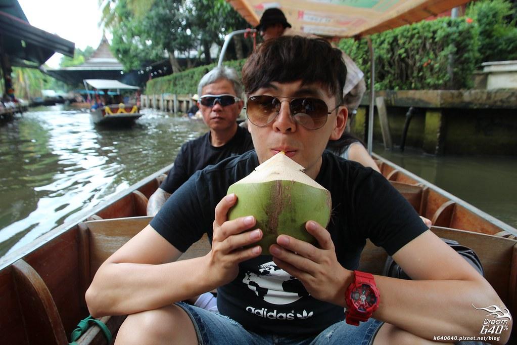 泰國曼谷-水上市場+美功鐵道市集+河濱夜市-48