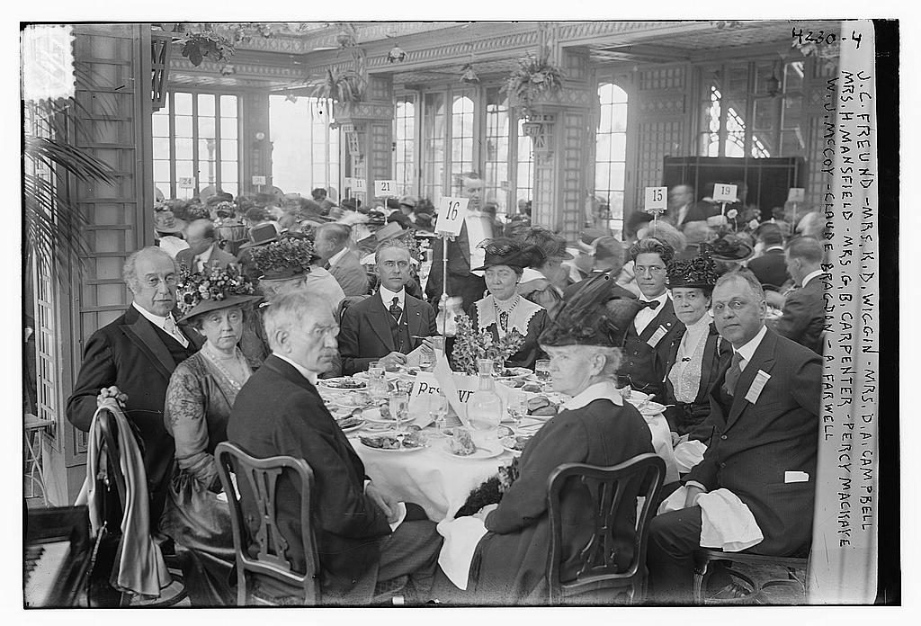 J.C. Freund, Mrs. K.D. Wiggin, Mrs. D.A. Campbell, Mrs. H. Mansfield, Mrs. G.B. Carpenter, Percy Mackaye, W.J. McCoy, Claude Bragdon, A. Farwell (LOC)
