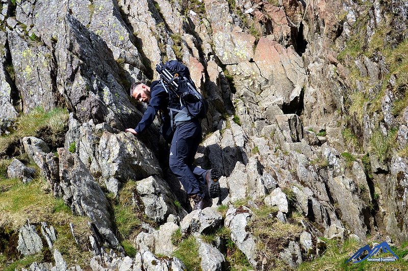 Scrambling on Striding Edge