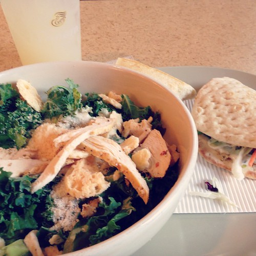Currently a little bit obsessed with the Power Kale Caesar Salad from @panerabread