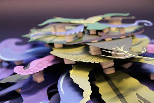 Nøkken Paper Sculpture by Katrine Hesselberg - Detail