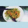 fusili integral ao pesto com cenoura, pepino e tomate. eu q fiz! #PhotoGrid #meujantar