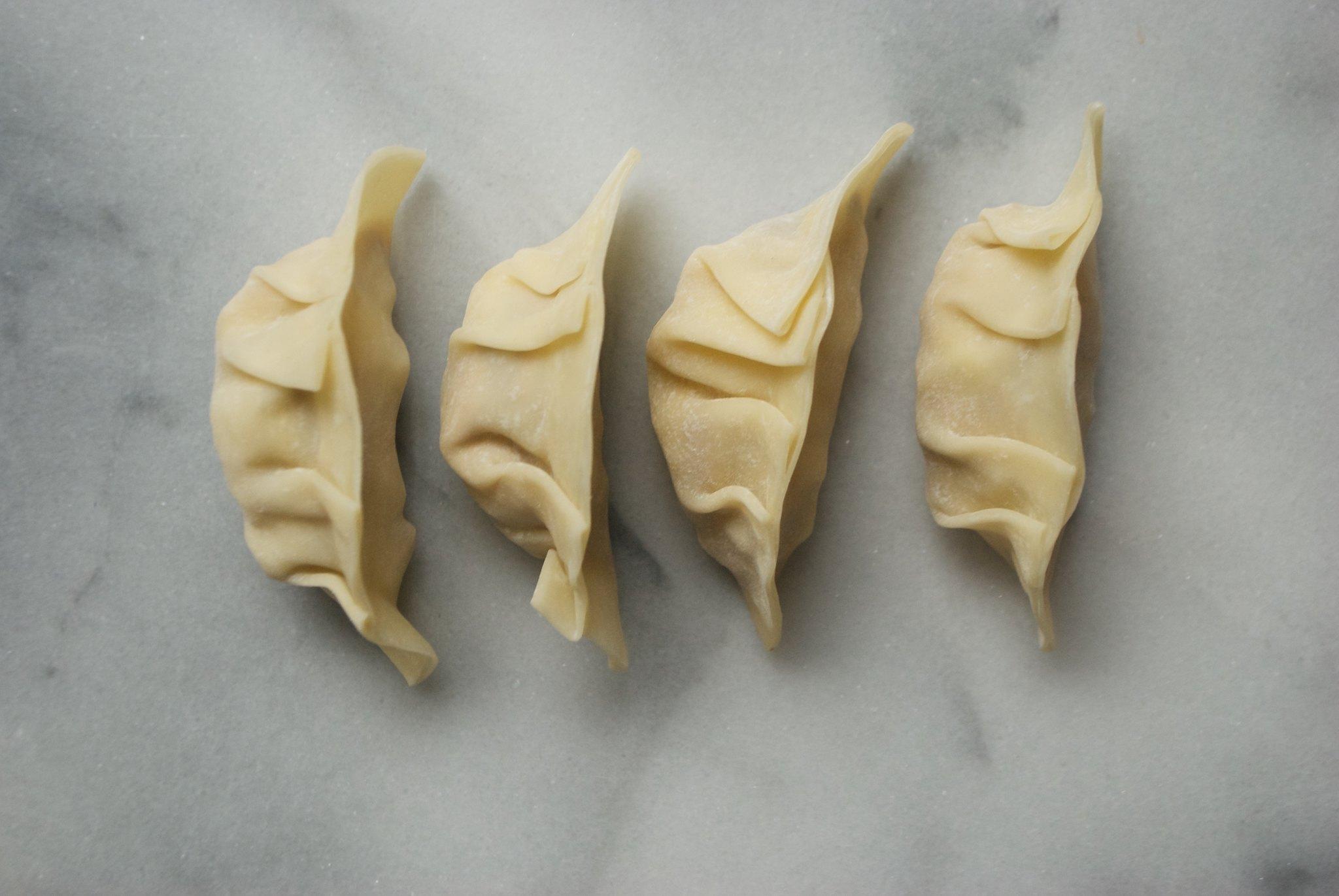 Mushroom & Greens Potstickers