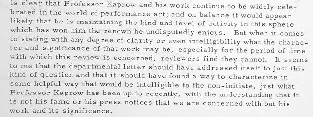 kaprow letter from john miles