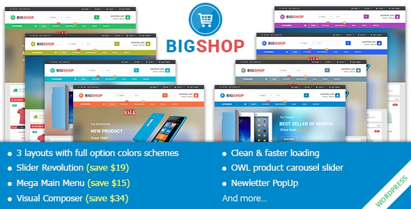 BigShop v1.0 – Responsive Multi-Purpose Woocommerce WordPress Theme