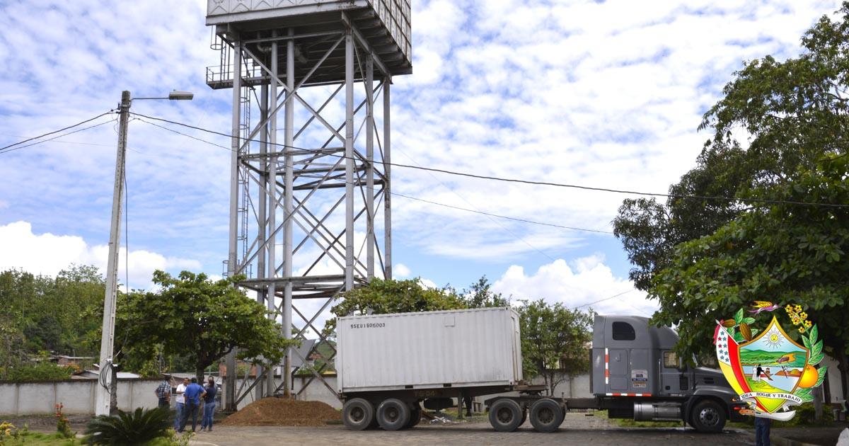 Nueva planta compacta para agua potable en Chone