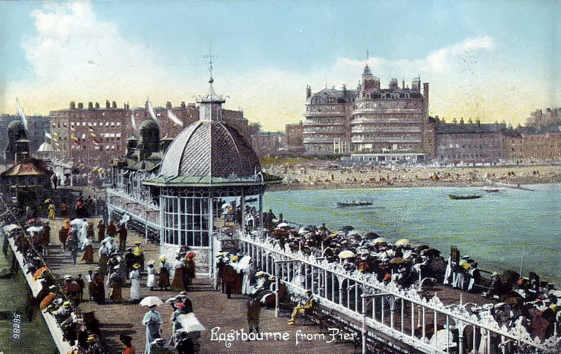 Eastbourne Pier postcard. Credit Ian Boyle, Simplon Postcards