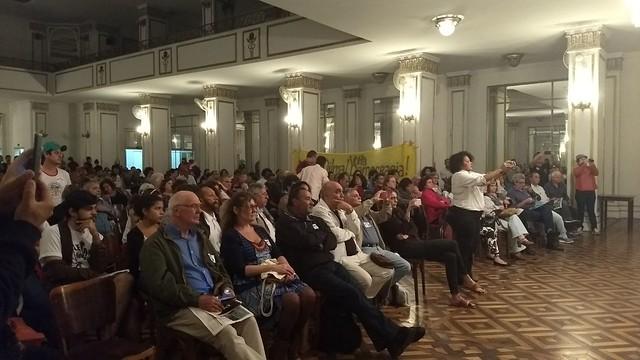Lançamento de plano da esquerda lota auditório da Associação dos Empregados do Comércio - Créditos: Mariana Pitasse